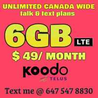 ⭐FIRESHOT KOODO PLAN- 6GB / $49 Monthly⭐UNTIL OCT 27