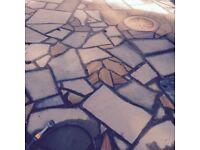 CRAZY PAVING, and Garden stone