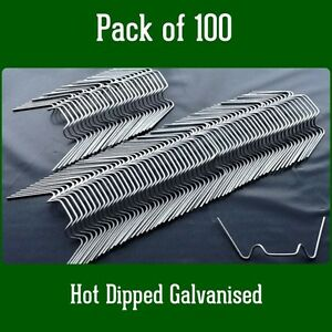 Greenhouse Parts Spares Spring Wire ' W ' Glazing Glass Clips pack of 100