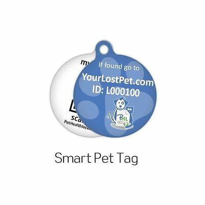 Smart pet ID tag for dogs and cats Small blue