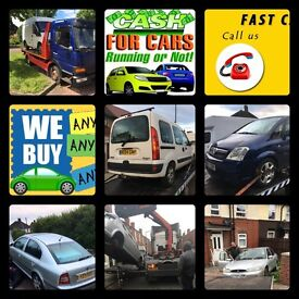 CARS WANTED - SCRAP - VANS - 4x4 - NON RUNNERS - UNWANTED ETC