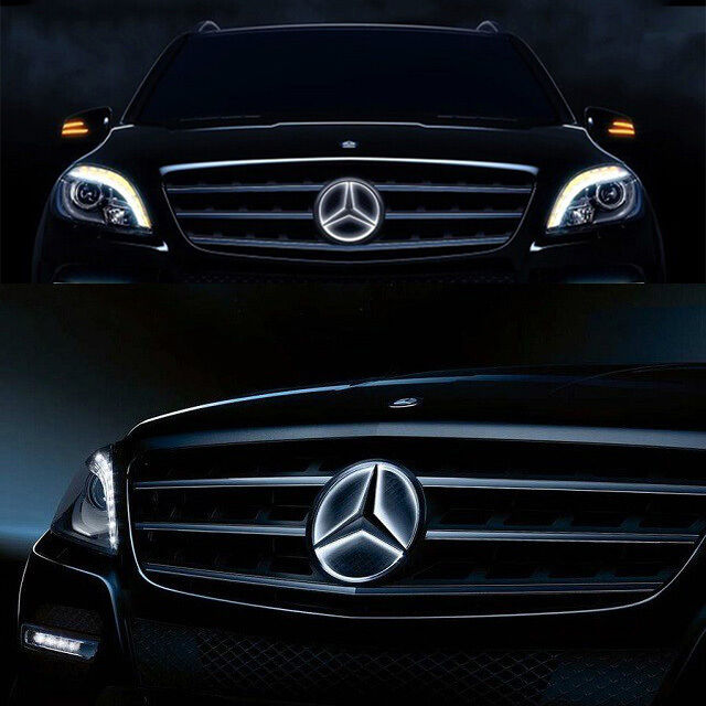 Sport front grille star emblem for mercedes benz 2006 2013 for Mercedes benz symbol light