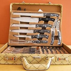 Carl Weill Quality Knife Set in Briefcase 22 Piece SET, All kni