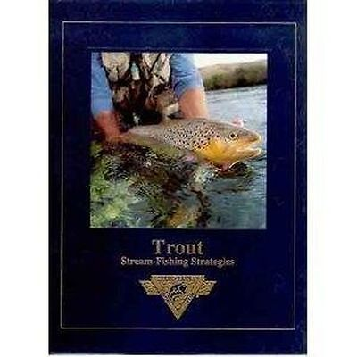 Trout Stream Fishing Strategies Hardcover Book Fly Rod Reel Net Vest New Nr