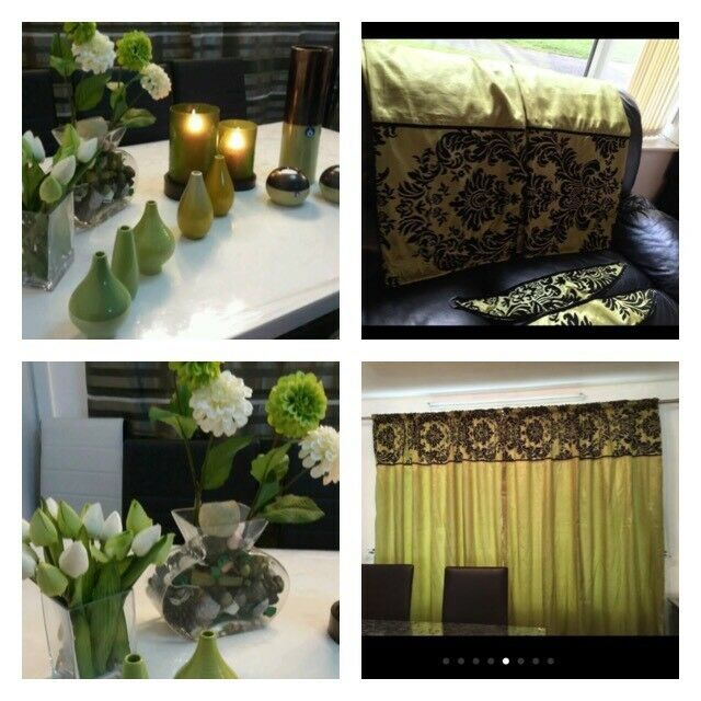 Green living room accessories