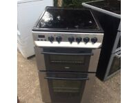 £113.00 Zanussi sls/black ceramic electric cooker+50cm+3 months warranty for £113.00