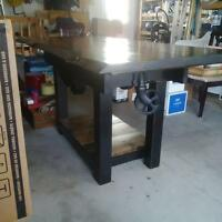 RECLAIMED LIVE EDGE KITCHEN ISLAND FACTORY CART