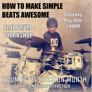 Free Drum Clinic at Long & McQuade Woodstock!