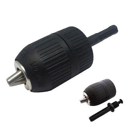 Sds Plus Shank To 12 20 Unf Keyless Chuck Adapter Impact Drill 3-jaw 2-13mm