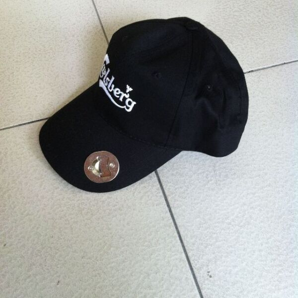 Brand new Carlsberg cap with cap opener