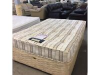 Double divan bed (mattress and base)