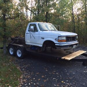1997 Ford F-450 super duty diesel for parts or whole    137k's