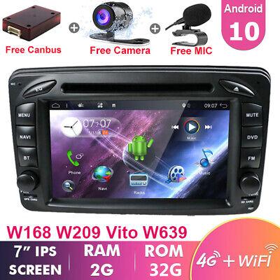 Autoradio For Mercedes Benz C/CLK/G Klasse W203 W209 W639 W463 Android 10 DAB+BT