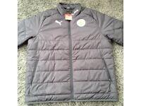LCFC Puma Mens Ascension Coaches Jacket X Large.