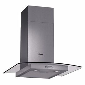 Neff Glass Canopy Stainless steel Chimney Cooker Hood 60cm BRAND NEW