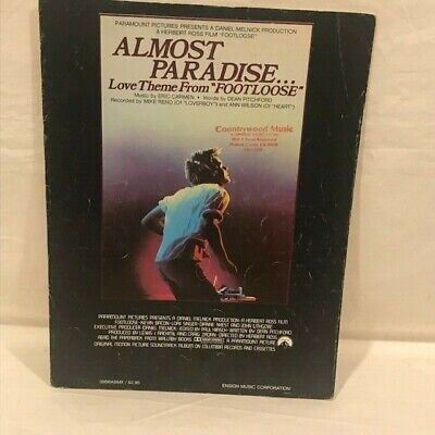 Sheet Music - Almost Paradise - from Footloose - Carmen & Pitchford - 1984 - H