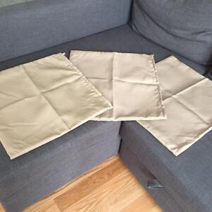 6 Decorative Pillow sofa or bed cases - beige color