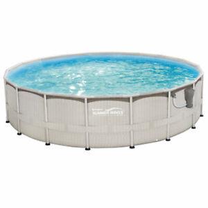 18 foot diameter Salt water swimming pool with pump