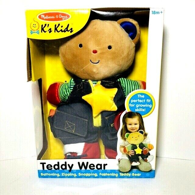 Melissa & Doug Ks Kids Teddy Wear Stuffed Bear Educational G