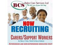 SUPPORT WORKERS NEEDED URGENTLY FOR HOME SUPPORT AND COMMUNITY SUPPORT