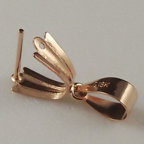Authentic 18k White Gold Pendant Clasp Hook Big Size