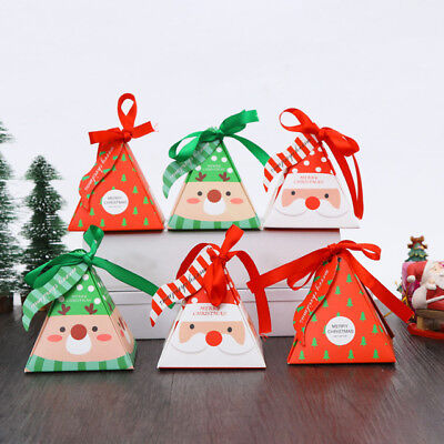 5Pcs Paper Candy Chocolate Cake Boxes Gift Bag Wedding Favors Christmas Decor - Cake Favor Boxes