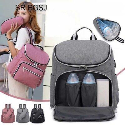 Bags For Nurses (Large Capacity Baby Travel USB Designer Nursing Bag for Baby Women)