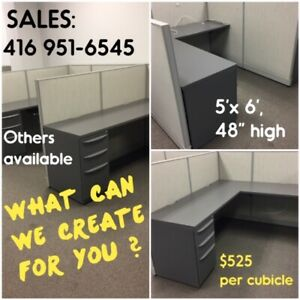 CUBICLES, USED / EXCELLENT, VARIOUS SIZES AND CONFIGURATIONS