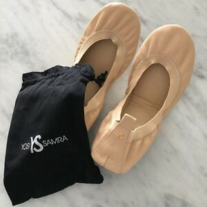 YOSI SAMRA NUDE FOLDABLE FLATS-LIKE NEW!