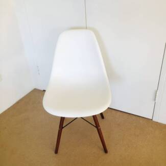 Eames Eiffel style chair white with wood legs North Sydney North Sydney Area Preview