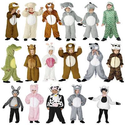 Jungen Mädchen Tier Kostüm Verkleidung Kinder Büchertag Kuh Schwein Krokodil