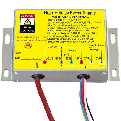 High Voltage Power Supply Ahv12v1kv5maw1kv