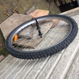 """BICYCLE FRONT WHEEL 26"""" WITH NEW TYRE & QUICK RELEASE HUB"""