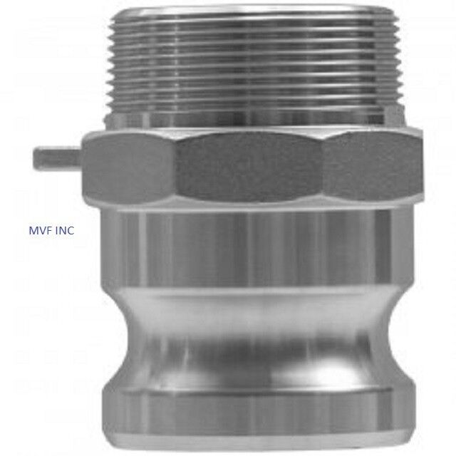 """1"""" Type F Camlock Male Adapter x Male NPT 304 Stainless Hose Fitting <F100SS304"""