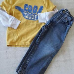 """Boys size 4 """"COOL DUDE"""" shirt and pair of jeans"""