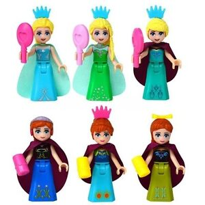 Frozen Snow Queen Elsa &Princess Anna dolls compatible with Lego Yellowknife Northwest Territories image 2