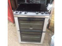 ££126.99 Zanussi sls/Black ceramic electric cooker+60cm+3 months warranty for £126.99