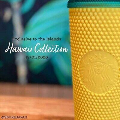 Starbucks Hawaii Edition 2020 Studded Matte Pineapple Cup Tumbler Studded 24oz