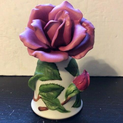 """Franklin Mint Porcelain Bell """"Prima Ballerina"""" Rose By Leslie Greenwood HP Japan"""