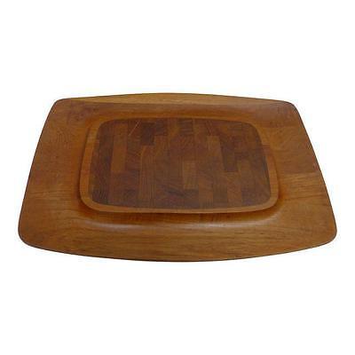 Dansk Denmark Teak Wood Quistgaard Cutting Board Carving Platter  Vtg