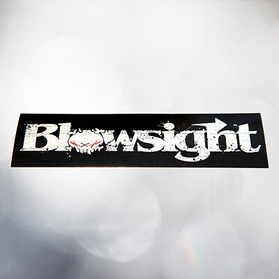 Blowsight Aufkleber - Schwarz mit weißem Schriftzug