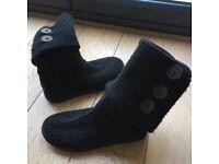 Ugg boots Size 7.5UK (black woolen)