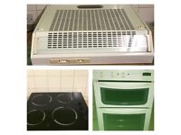 Double oven Hob and cooker hood
