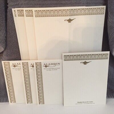 Aladdin Hotel Las Vegas Resort Las Vegas Stationery- Notepad plus 7 pieces - New