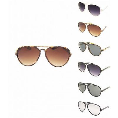 Mode Plastik Rahmen Piloten Retro Sonnenbrille Herren Damen 70er Jahre Style