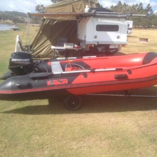 Dinghy inflatable boat 13ft aluminium floor, tender