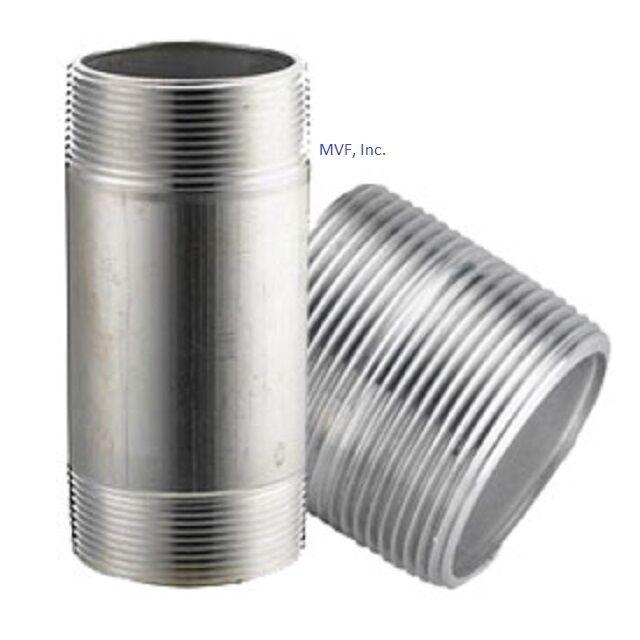 "2"" x 4"" NPT Seamless Pipe Nipple S/40 ALUMINUM 6061-T6 <AN1090611"