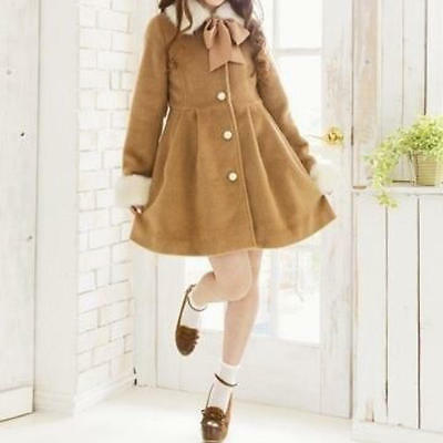 Liz Lisa x My Melody brown A line winter coat Kawaii Lolita Japanese Harajuku