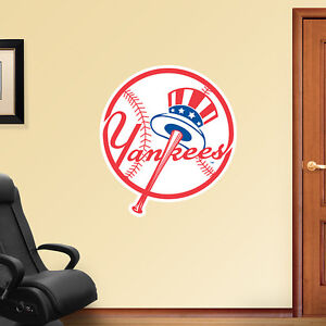 New York Yankees Fathead Logo Wall Sticker Removeable Reuseable