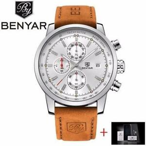BENYAR Fashion Chronograph Sport Mens Watche  Free Shipping